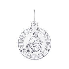 Серебряная подвеска Водолей 000133238 000133238 от Zlato