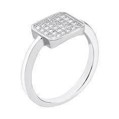 Серебряное кольцо с фианитами 000133843 000133843 16.5 размера от Zlato