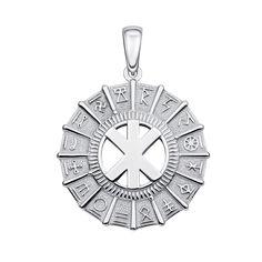 Серебряная подвеска-оберег Руна Жива в круге Коляды 000134348 000134348 от Zlato