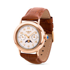 Часы наручные из красного золота с лунным календарем 000134572 000134572 от Zlato