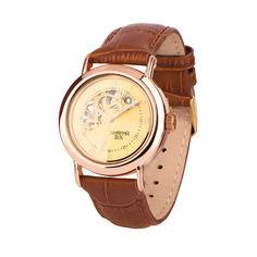 Часы из красного золота с кожаным ремешком 000135561 000135561 от Zlato
