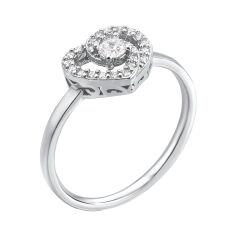 Серебряное кольцо с фианитами 000135183 000135183 16.5 размера от Zlato