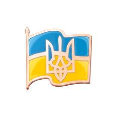 Значок из красного золота с синей и желтой эмалью 000003922 000003922 от Zlato