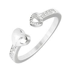 Серебряное кольцо Притяжение с фианитами  000033854 16 размера от Zlato