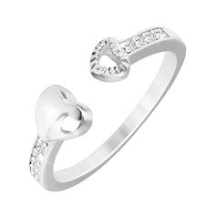 Серебряное кольцо Притяжение с фианитами  000033854 17.5 размера от Zlato