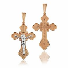 Крестик золотой с распятием, КР010/1 Eurogold от Eurogold