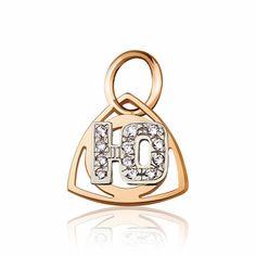 """Золотая подвеска в форме буквы """"Ю"""", комбинированное золото, П0179Ю Eurogold от Eurogold"""