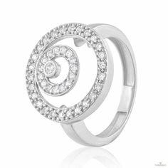 Кольцо КД2064/1 с камнем Циркон, белое золото Eurogold от Eurogold