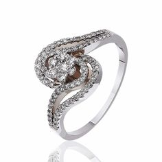 Кольцо  с бриллиантами, белое золото, КД7478/1 Eurogold от Eurogold