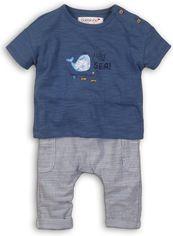Акция на Костюм (футболка + шорты) Minoti Wave 3 7645 62-68 см Синий с белым (5059030005108) от Rozetka