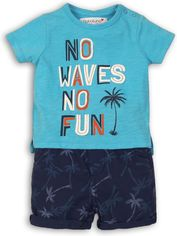 Костюм (футболка + шорты) Minoti Coconut 1 7677 62-68 см Голубой с темно-синим (5059030005467) от Rozetka