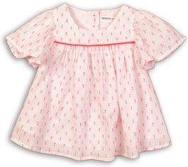 Блузка Minoti Hut 3 7976 98-104 см Белая с ярко-розовым (5059030018887) от Rozetka