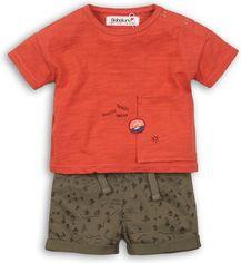 Костюм (футболка + шорты) Minoti Cactus 8 2311 62-68 см Коралловый с зеленым (5033819227691) от Rozetka