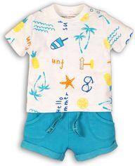 Костюм (футболка + шорты) Minoti Coconut 7 7689 56-62 см Белый с голубым (5059030005818) от Rozetka