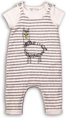 Костюм (футболка + комбинезон) Minoti Fun 6 7550 62-68 см Белый с серым (5059030001254) от Rozetka
