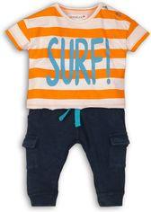 Костюм (футболка + бриджи) Minoti Coconut 3 7681 62-68 см Оранжевый с белым и темно-синий (5059030005580) от Rozetka