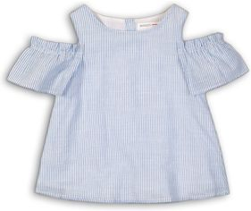 Блузка Minoti Hydrangea 11 8199 98-104 см Белая с синим (5059030029357) от Rozetka