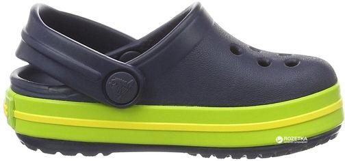 Сабо Crocs Kids Jibbitz Crocband Clog K 204537-4K6-C5 20-21 12.3 см Черные с зеленым (887350924657) от Rozetka