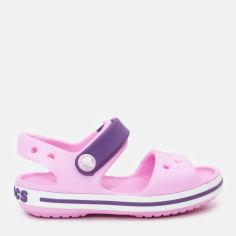 Сандалии Crocs Kids Crocband 12856-6AI-C7 23-24 14 см Розовые с фиолетовым (191448106062) от Rozetka