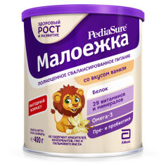 Сухая смесь PediaSure Малоежка со вкусом ванили 400 г (7810428016034) от Rozetka