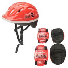 Cosmic Шлем и Налокотники Для Велосипедистов Детские Красные/Черные от SportsTerritory