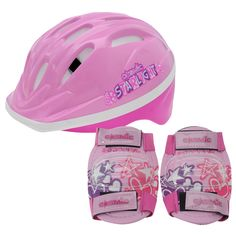 Cosmic Шлем и Налокотники Для Велосипедистов Детские Розовые от SportsTerritory