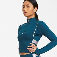 Nike HyperWarm Long Sleeve Top Ladies Turquoise от SportsTerritory