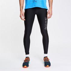 Nike С Логотипом Лосины Мужские Черные от SportsTerritory