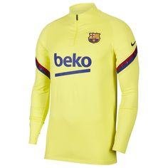 Nike FC Barcelona Drill Мужской Топ Жёлтый/Голубой от SportsTerritory