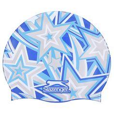 Slazenger С Принтом Шапочка для Плавания Подростковая Голубая/Серая от SportsTerritory