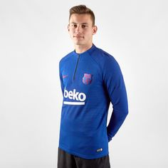 Nike Barcelona Vapor Drill Мужской Топ Lyon Голубой от SportsTerritory
