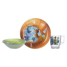 Набор детской посуды Luminarc Disney Monsters 3 предмета P9261 от Podushka