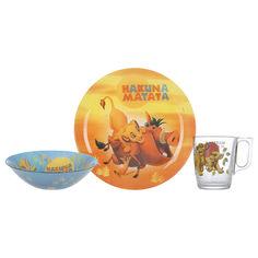 Набор детской посуды Luminarc Disney Lion King 3 предмета P9345 от Podushka