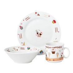 Набор посуды детской Limited Edition Sweet Happiness 3 прибора D150405 от Podushka