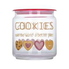 Банка с розовой крышкой Luminarc Cookies Storing Box 0.75 л P6019 от Podushka