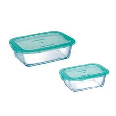 Акция на Набор контейнеров прямоугольных Luminarc Keep'n Box 380, 820 мл P7643 от Podushka