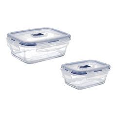 Акция на Набор контейнеров прямоугольных Luminarc Pure Box Active 380, 820 мл P7644 от Podushka