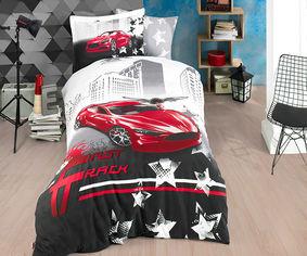 Акция на Комплект постельного белья Hobby Poplin Fast Track красный Полуторный комплект от Podushka
