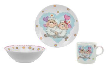 Набор детской посуды Limited Edition Happy Lambs 3 прибора C558 от Podushka