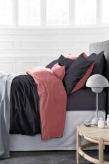 Акция на Комплект постельного белья MirSon 0132+0240 Montane розовый и темно-серый Семейный комплект от Podushka