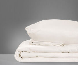Акция на Детское постельное белье MirSon 0001 Moko White молочное Детский комплект от Podushka