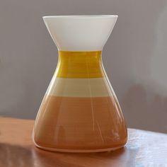 Акция на Ваза Гласс Трейд Топаз 22 см арт. 47 бело-оранжевая от Podushka