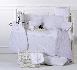 Постельное белье в кроватку Karaca Elephant лиловое Детский комплект от Podushka