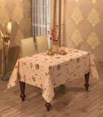 Скатерть Arya Damask светло-коричневый 150х220 см от Podushka