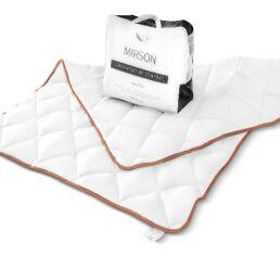 Акция на Одеяло летнее шерстяное MirSon 053-1 Mikrosatin Gold Woolen 220х240 см вес 600 г от Podushka