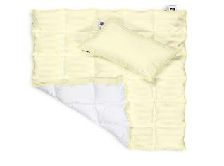 Акция на Набор детский демисезонный MirSon 857 Carmela EcoSilk одеяло и подушка демисезонное 110х140 см + подушка 40х60 см от Podushka