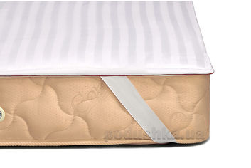 Акция на Наматрасник MirSon DeLuxe Cotton 269 непромокаемый на резинках по углам 60х120 см от Podushka