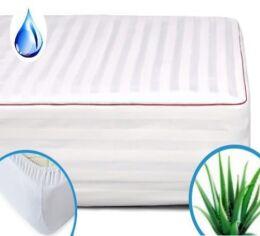 Акция на Наматрасник MirSon DeLuxe Eco Aloe vera 231 непромокаемый с резинкой по периметру 200х220 см от Podushka