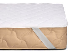 Акция на Наматрасник MirSon Стандарт Cotton 260 на резинках по углам 70х130 см от Podushka