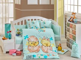Акция на Постельное белье в кроватку Hobby Lovely мятное Детский комплект от Podushka